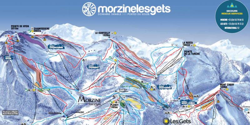 Plan piste Morzine Transfert Geneve Aeroport